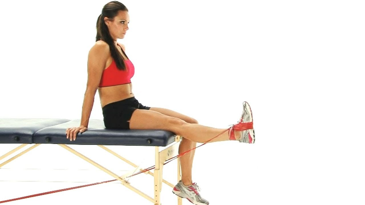Exercise Band Exercises: Assisted Hamstring Stretch
